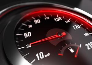 speedometer displaying car reaching 30mph
